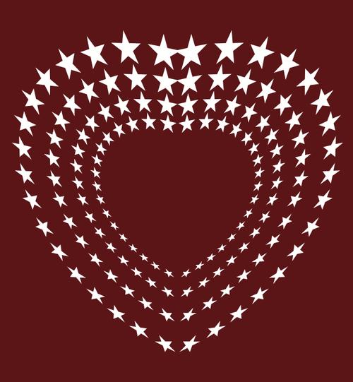 image free vector heart of stars