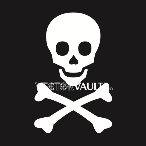 image free vector freebie skull and bones logo