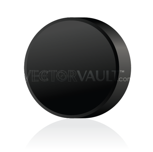buy vector hockey puck image angled view