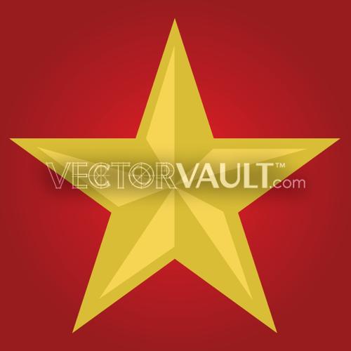 vector communist star
