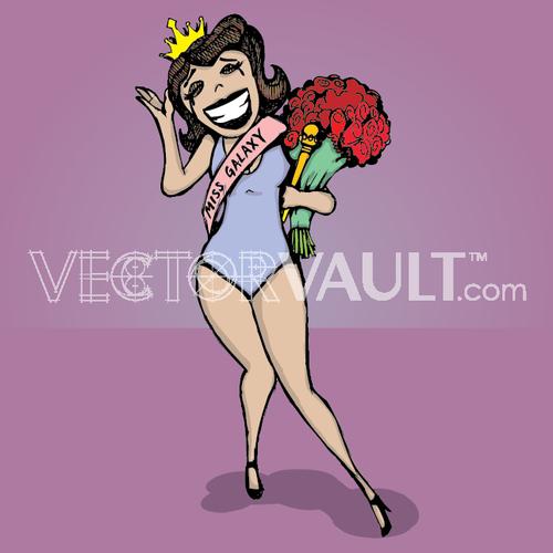 image-buy-vector-cartoon-beauty-queen