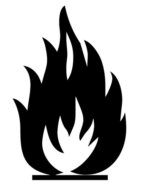 Buy vector flammable icon logo graphic royalty-free vectors
