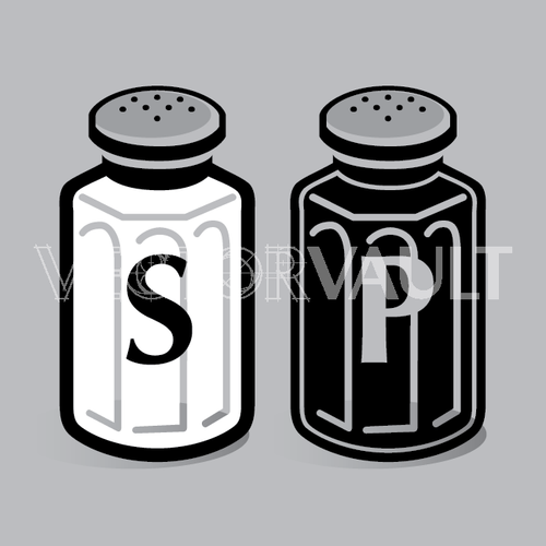 vector salt and pepper shakers