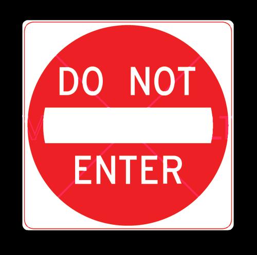 do not enter sign