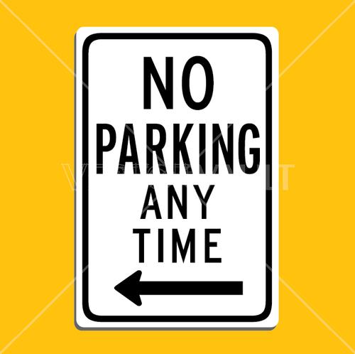 vector no parking sign