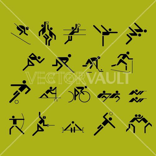 vector olympic symbols