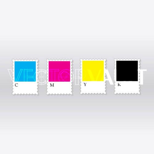 Buy Vector CMYK stamps Image free vectors