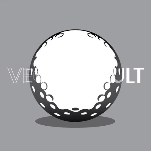 Buy Vector golf ball Image free vectors