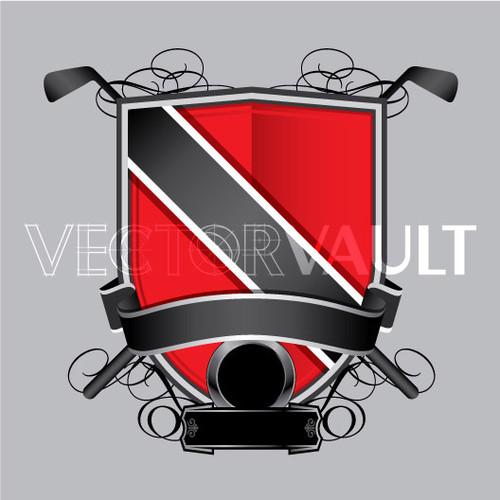 Buy Vector golf crest logo