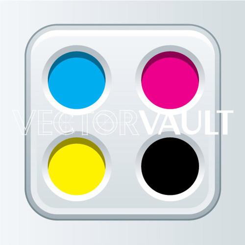 Buy Vector CMYK app icon tablet Image free vectors image - vectorvault
