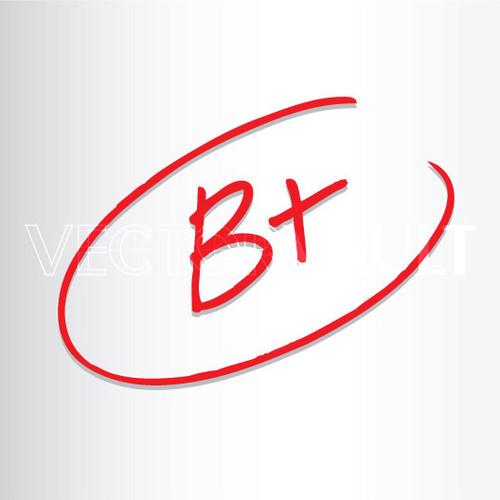 Buy Vector B+ Grade hand written Image free vectors - Vectorvault