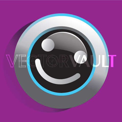 Buy Vector smiley face button Image free vectors - Vectorvault