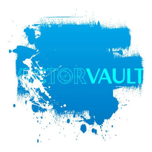 Buy Vector paint roller splatter logo Image free vectors - Vectorvault