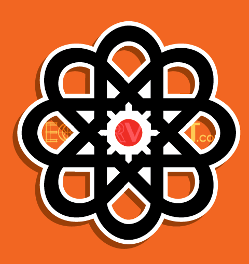 Vector Atomic Logo Symbol