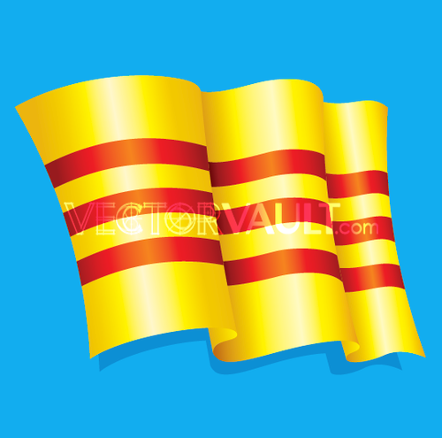 Vector Waving Striped Flag