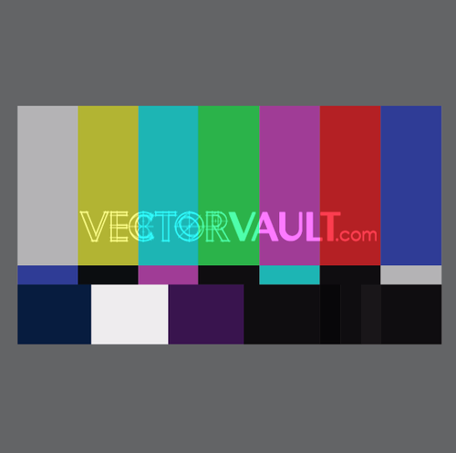 Vector TV Stripes Screen