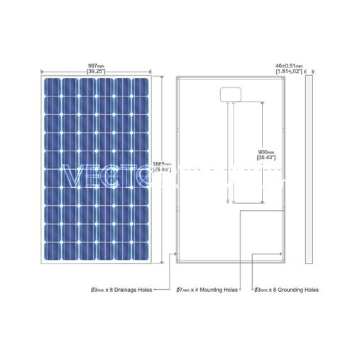 Vector Solar Panel Diagram