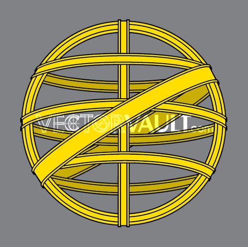 Vector Metal Globe Logo