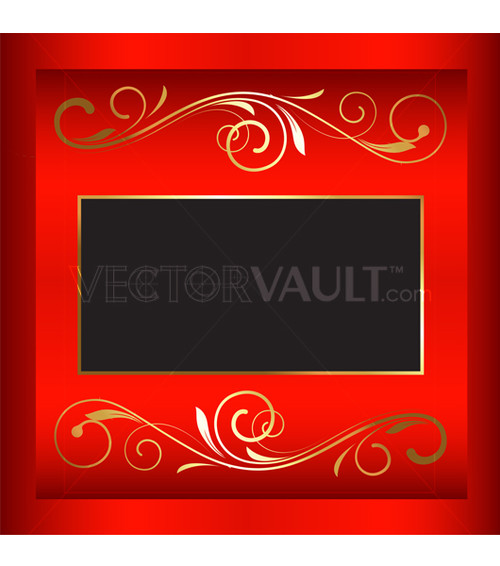 Buy Vector Christmas Square Nameplate