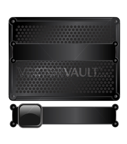Vector Black Metal Frame Plate