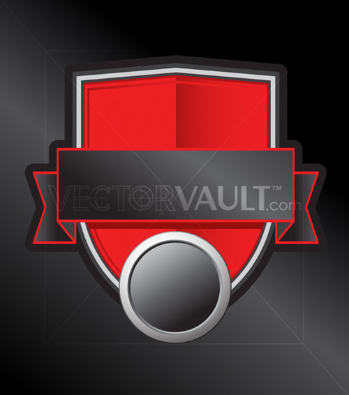 Buy blank Vector Red Shield Emblem logo free vectors
