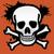 Buy vector skull and cross bones icon logo graphic royalty-free vectors