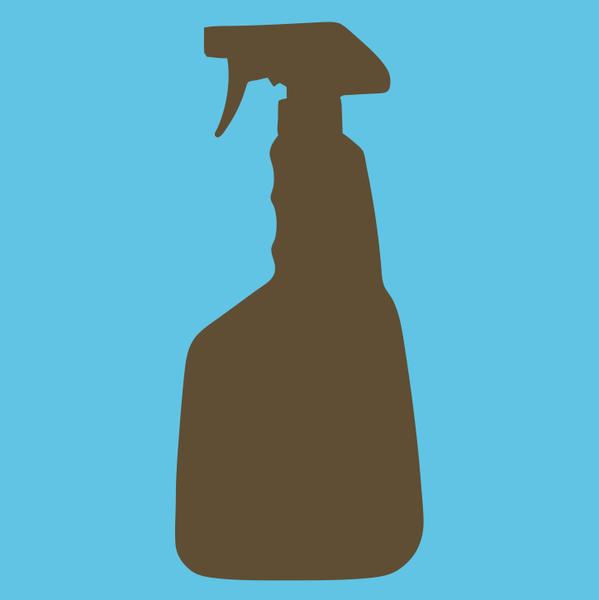 Vector Spray Bottle Silhouette