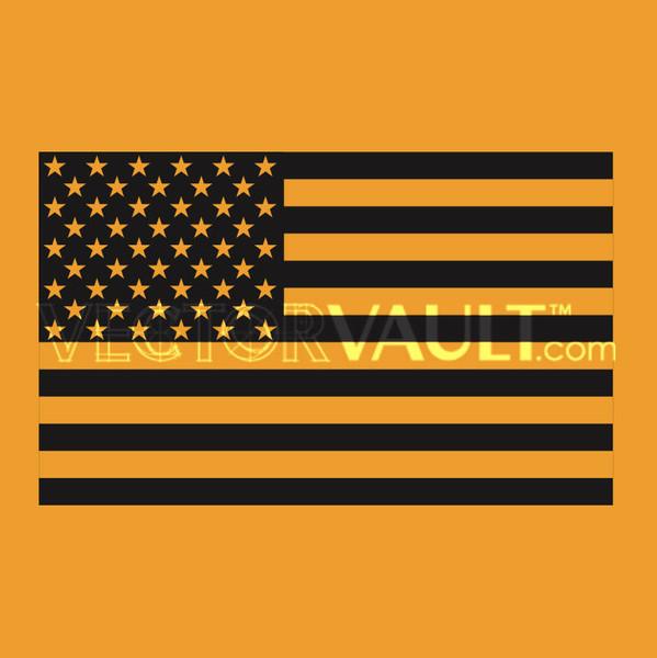 image free vector black america flag