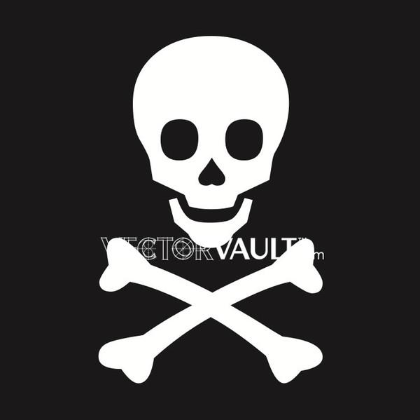 image free vector freebie skull and bones logo