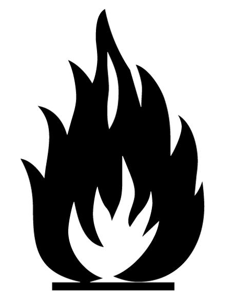Buy vector flammable icon logo graphic royalty-free vectors