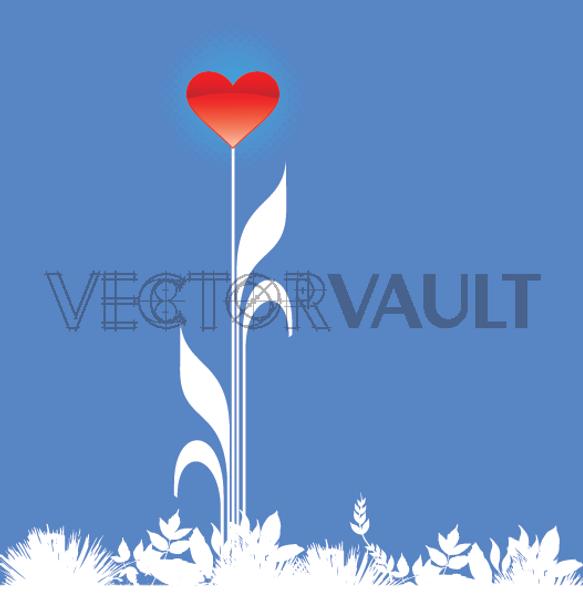 image-buy-vector-blooming-heart-love-flower