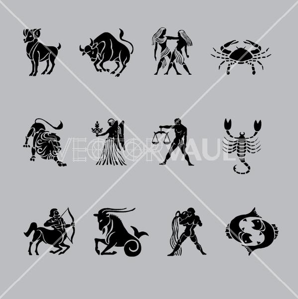 vector astrological symbols