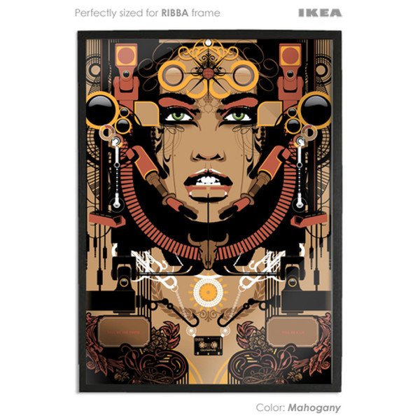 mahogany coloured art print sized to fit ikea ribba frame buy vector digital art print poster