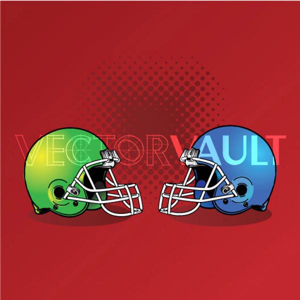 Buy Vector Football Helmets Image free vectors