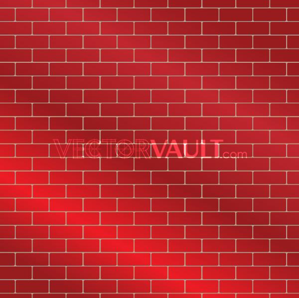 VectorRed Brick Wall