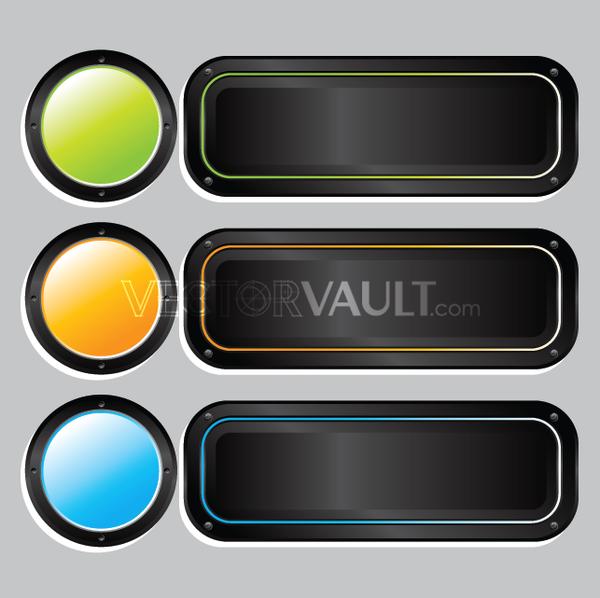 Vector Button Trio