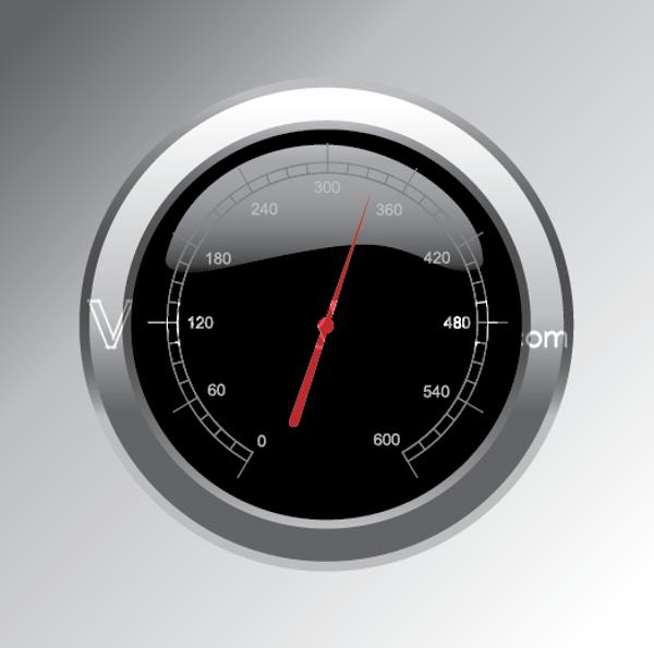 Vector Speedometer Button