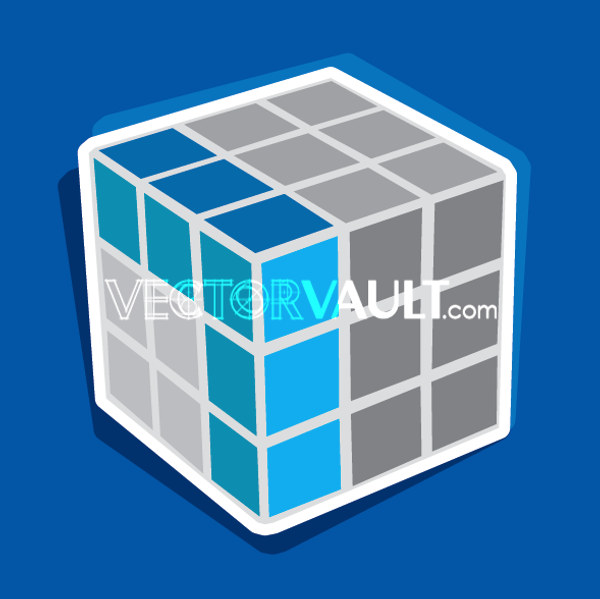 Vector Rubiks Cube Icon