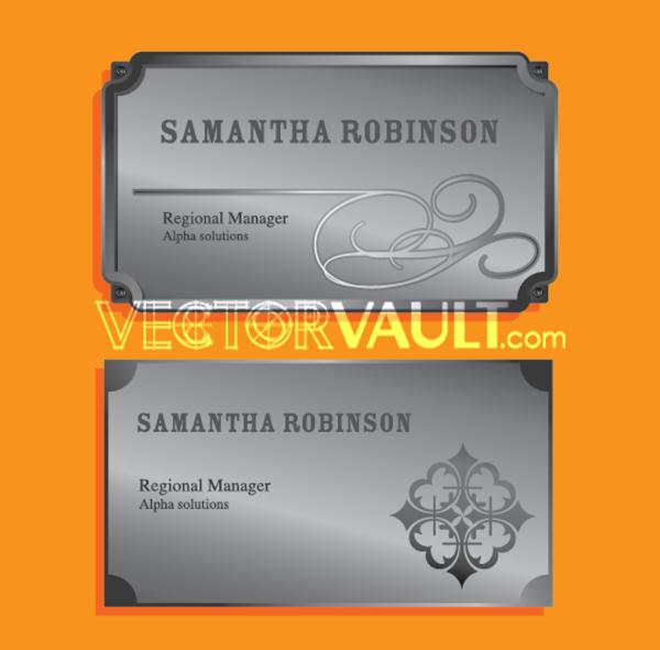 Vector Metal Name Plates