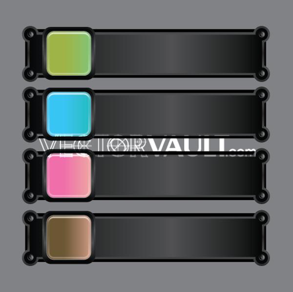 Vector Interface Buttons