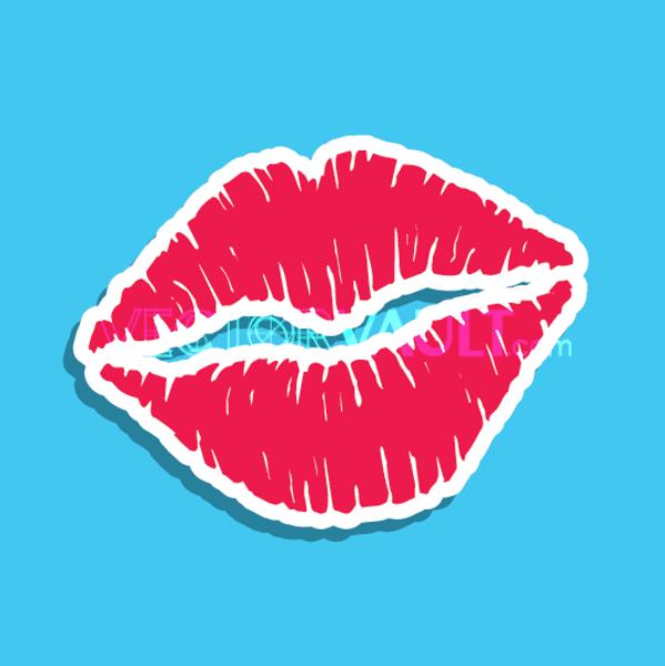 Vector Lipstick Kiss Icon