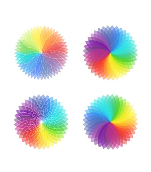 Color spectrum wheels