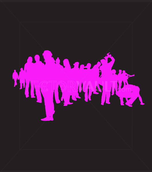 Vector People Cluster Grouping