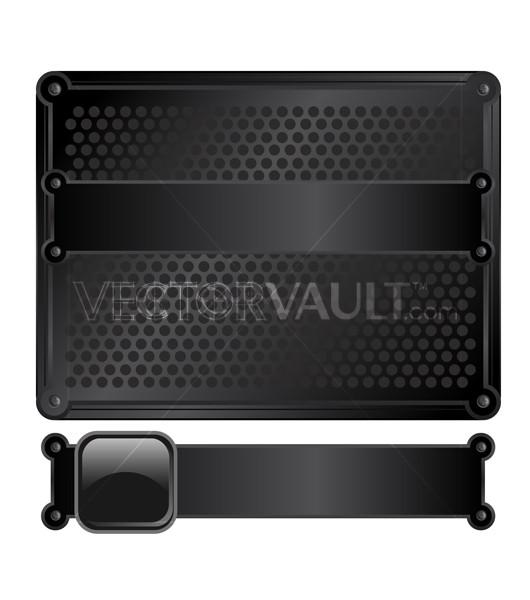 Vector Black Metal Frame Plate