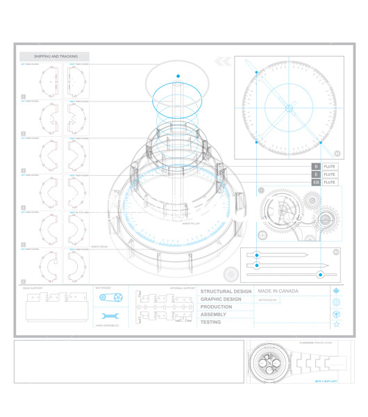 Buy Vector 3D Timepiece Movement Exploded view Schematic diagram