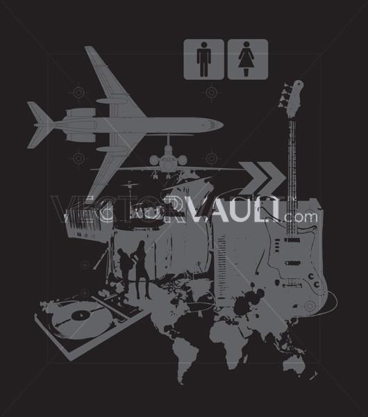 Buy Vector International Music Collage