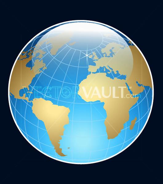 Buy Vector Glossy Globe Icon graphic