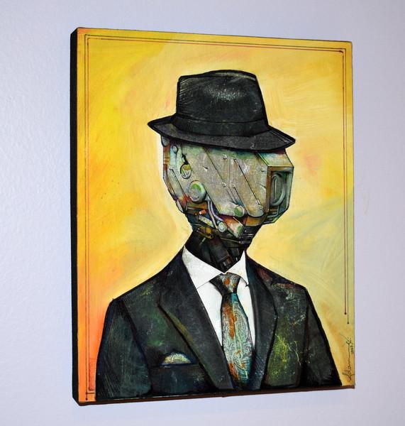 Office Portrait - original painting by Adam Jarvis - 2020