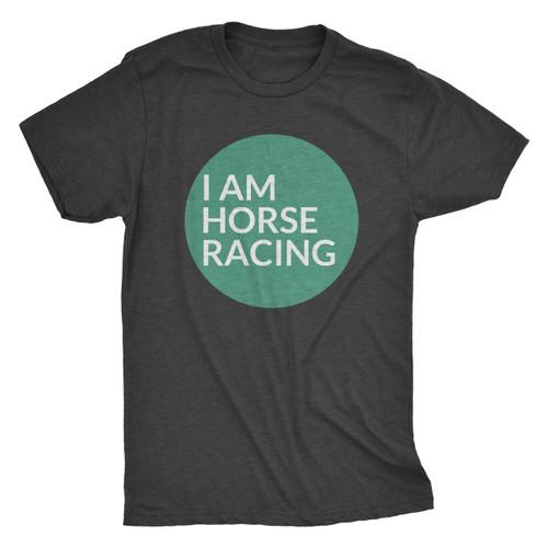 I AM HORSE RACING - CIRCLE TEE/CHARCOAL