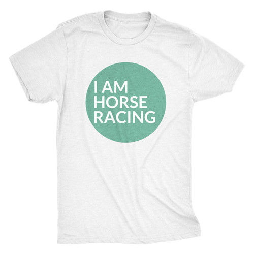 I AM HORSE RACING - CIRCLE TEE/HEATHER WHITE